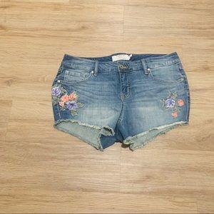 Torrid Denim Jean Shorts Size 12